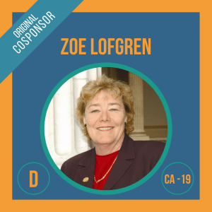 Representative Zoe Lofgren, Cosponsor of the Student Borrower Bankruptcy Relief Act