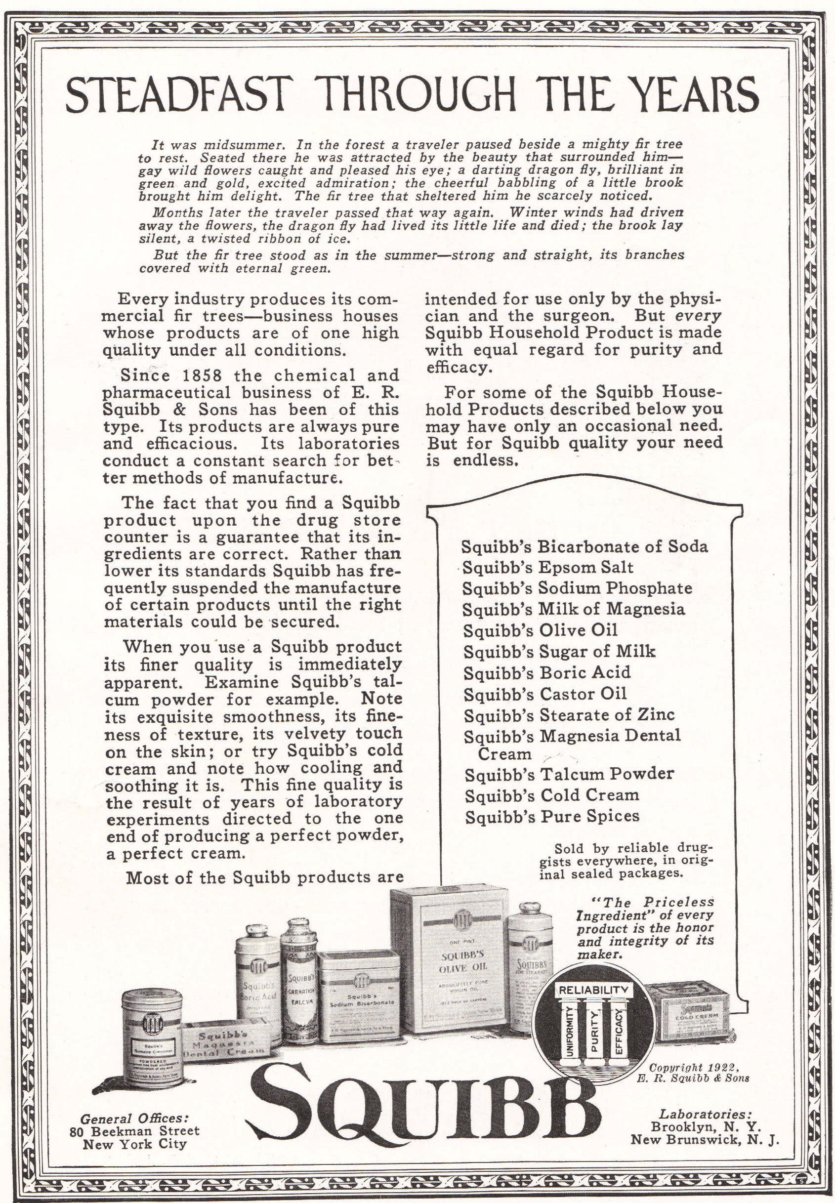 Squibb Products Advertisement
