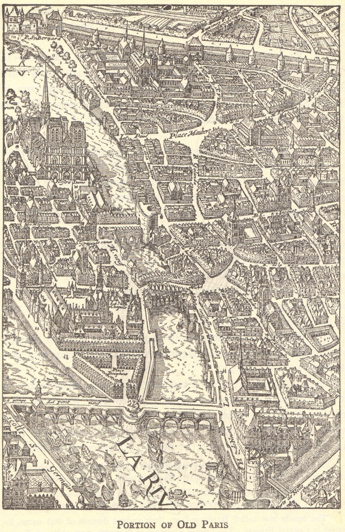 Map Of Renaissance Paris France