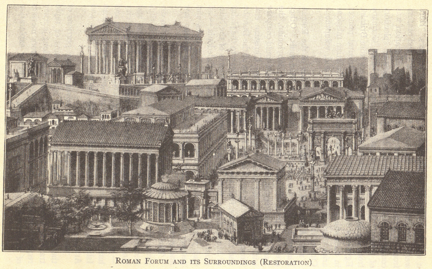 Cityscape Of Ancient Rome