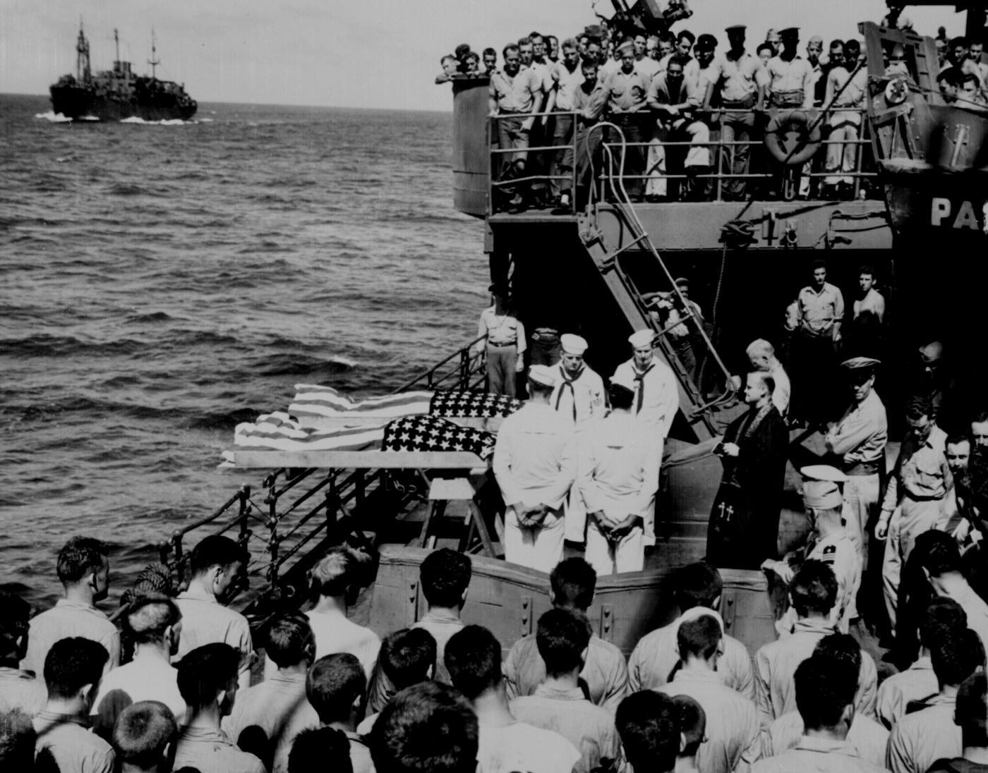 U S Military Burial At Sea