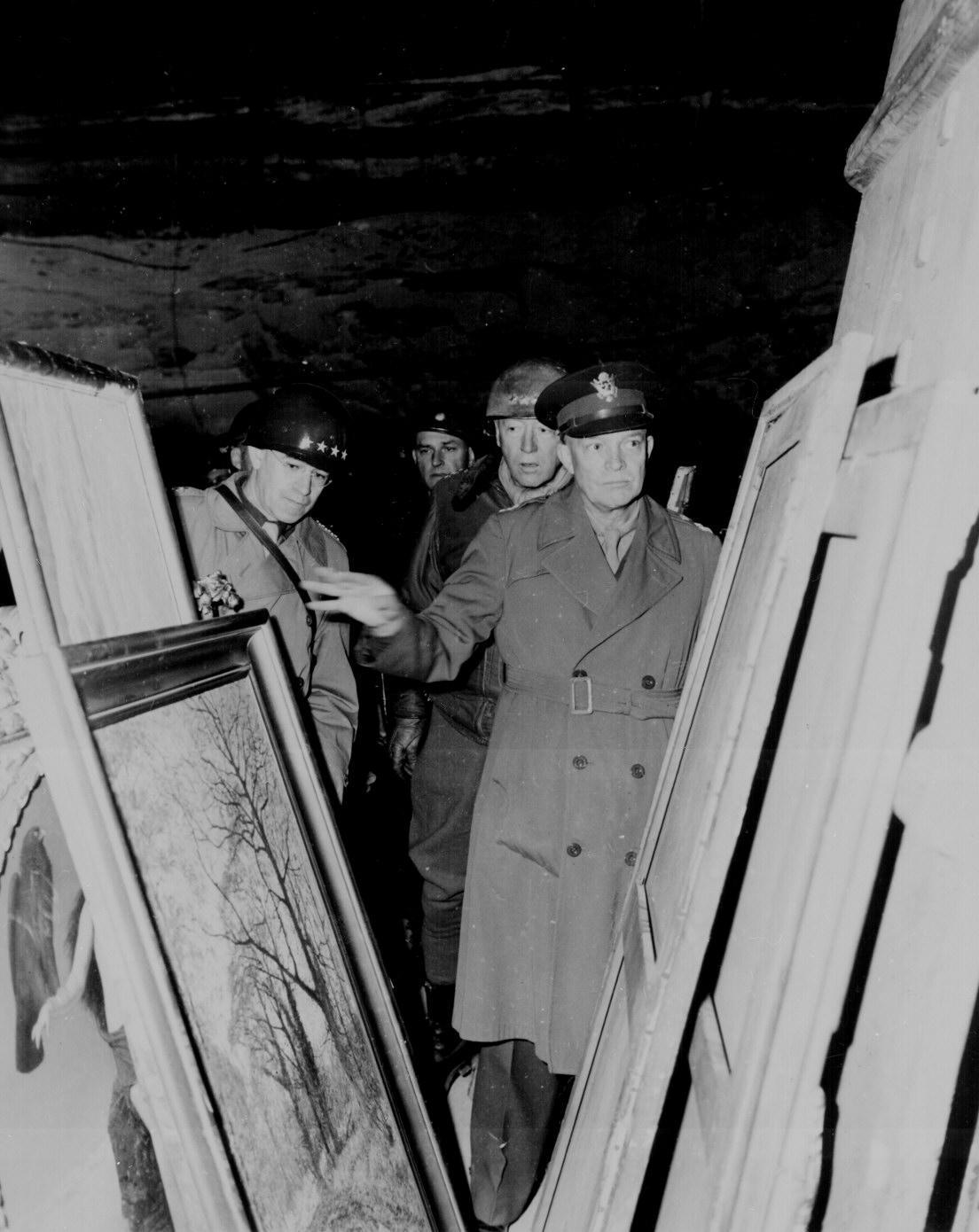Eisenhower Bradley And Patton