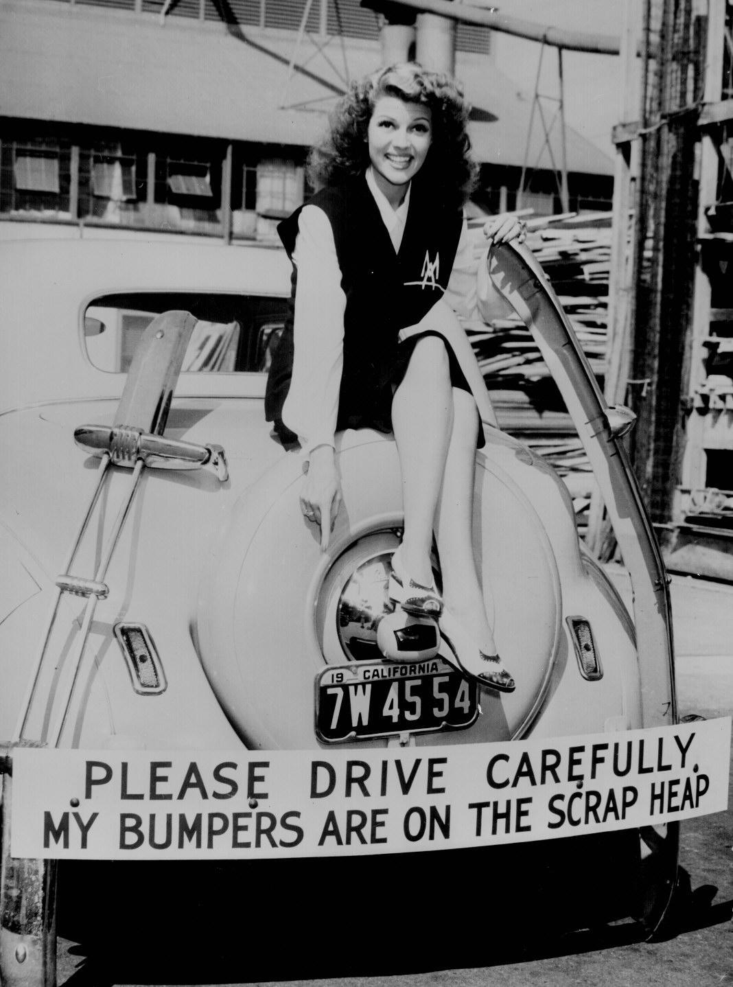 Rita Hayworth World War Ii War Effort Poster