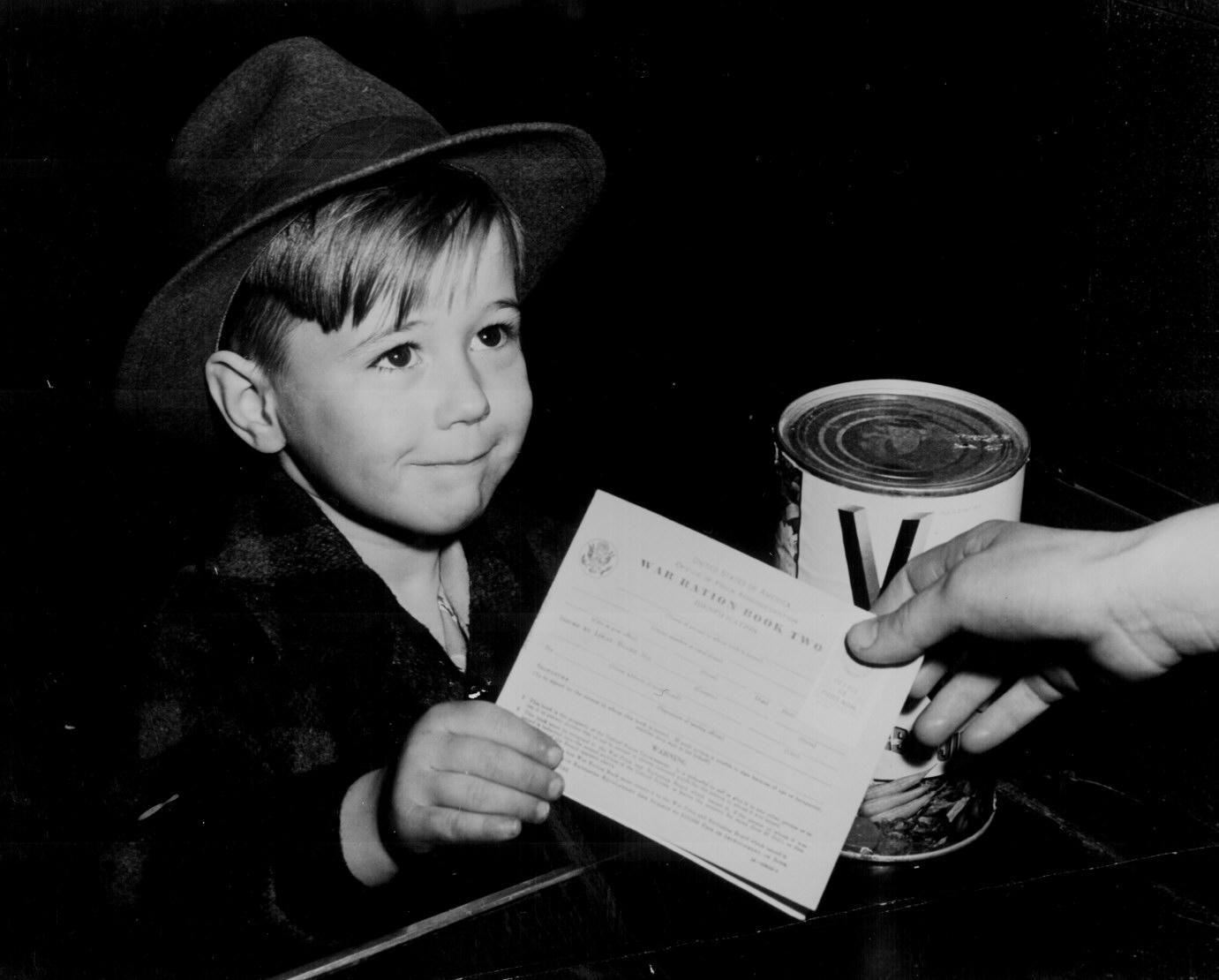 Little Boy With War Ration Book Two