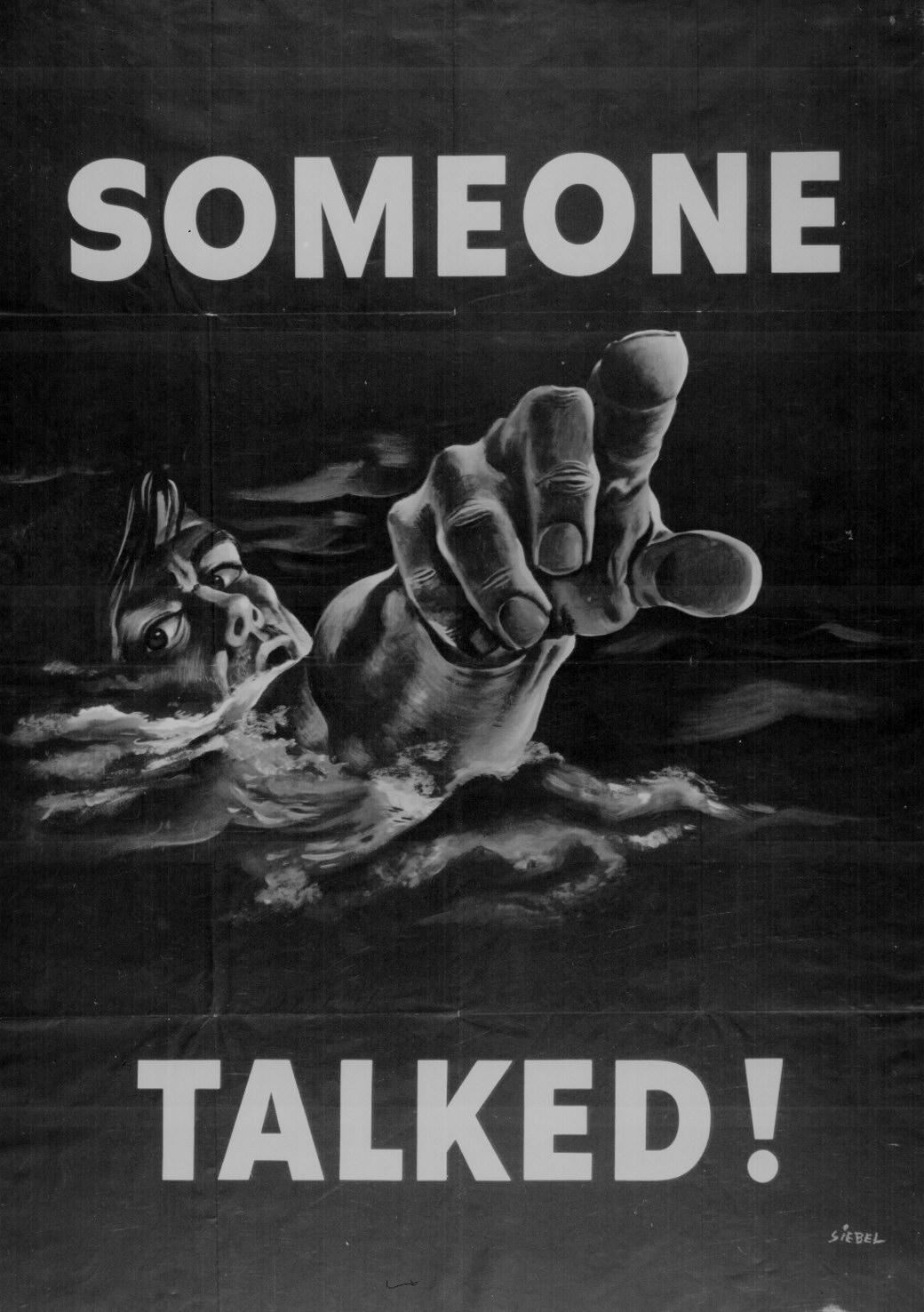 Someone Talked Wwii Propaganda Poster