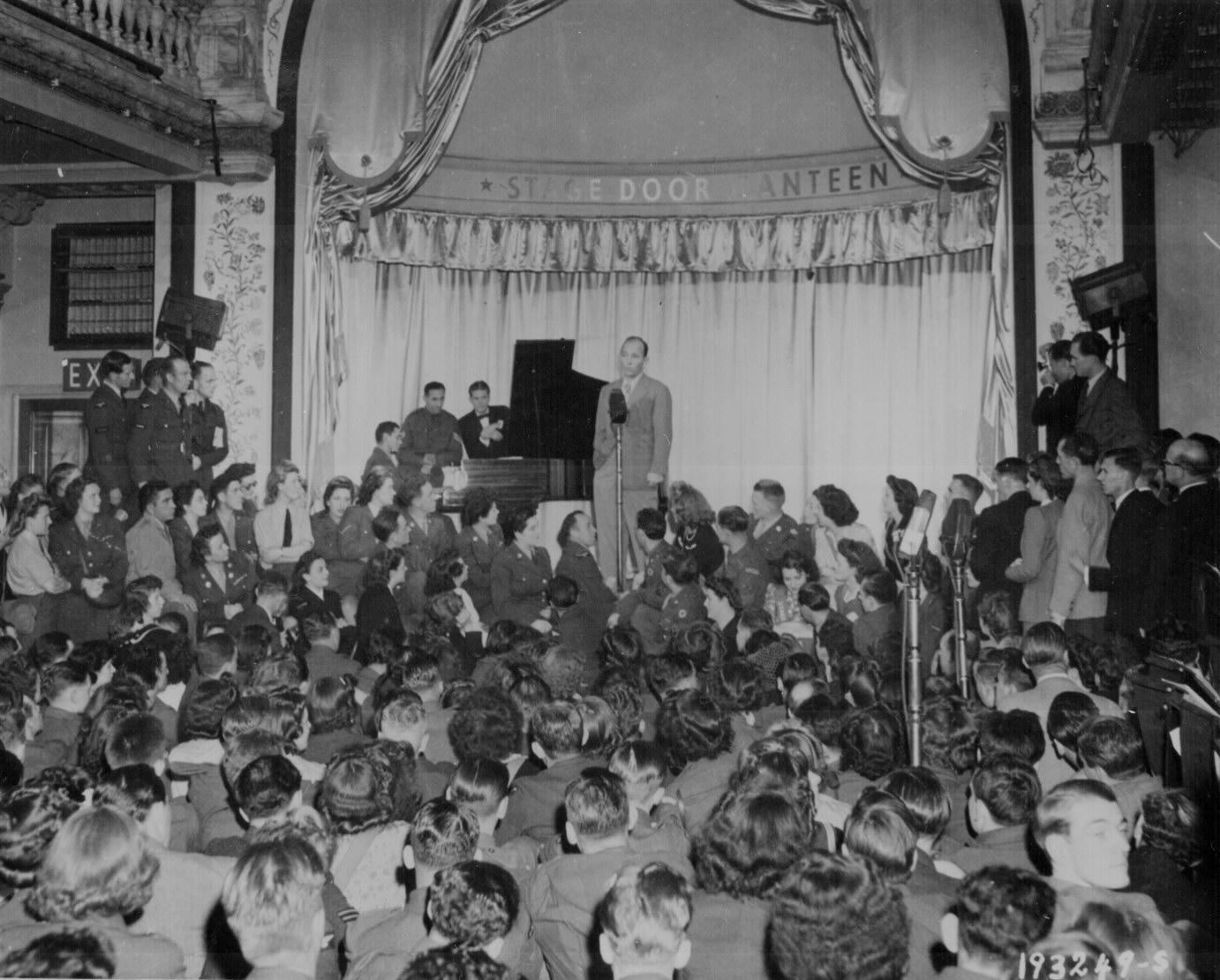 Bing Crosby Entertaining Troops In London