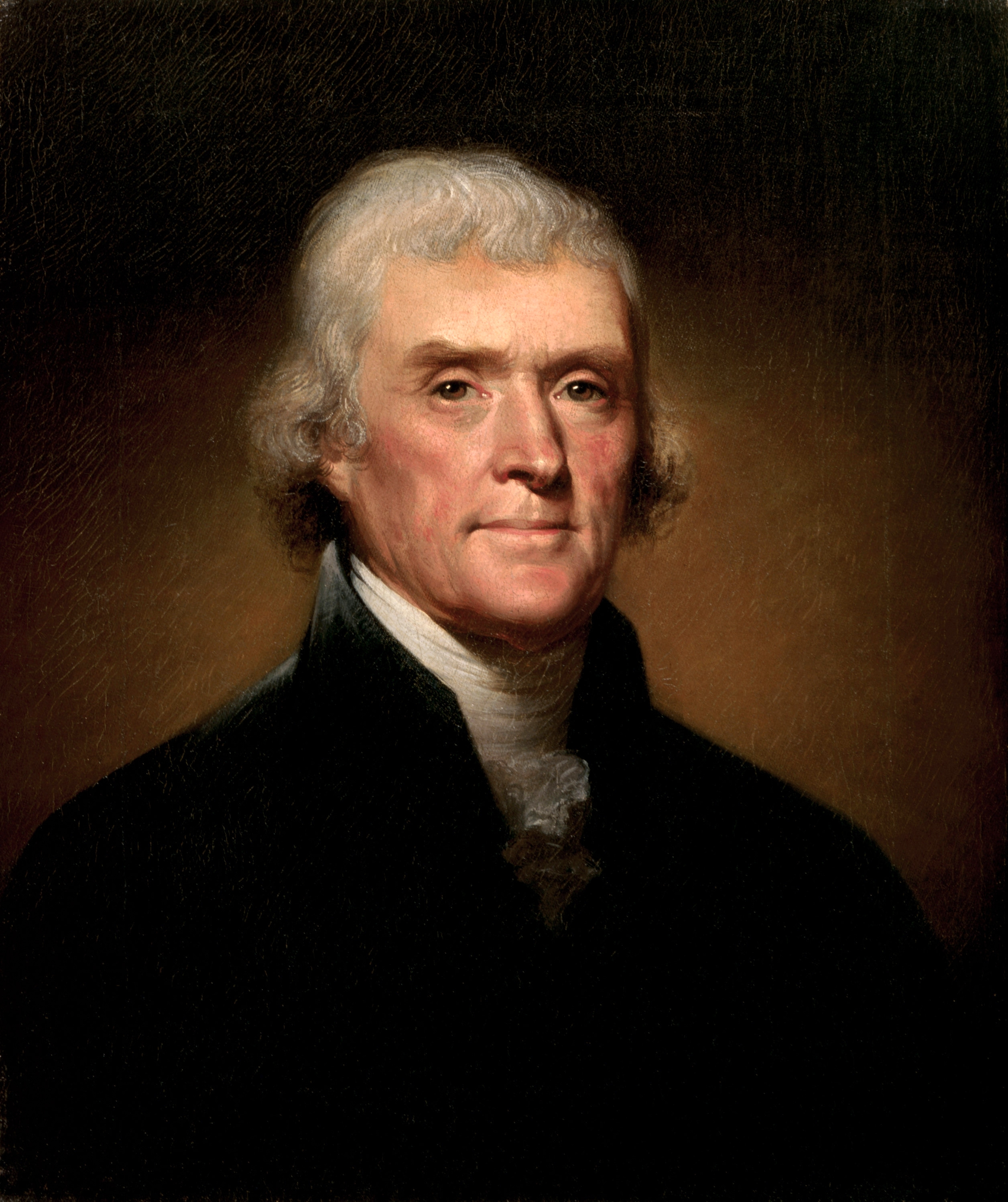 Thomas Jefferson Portrait By Rembrandt Peale