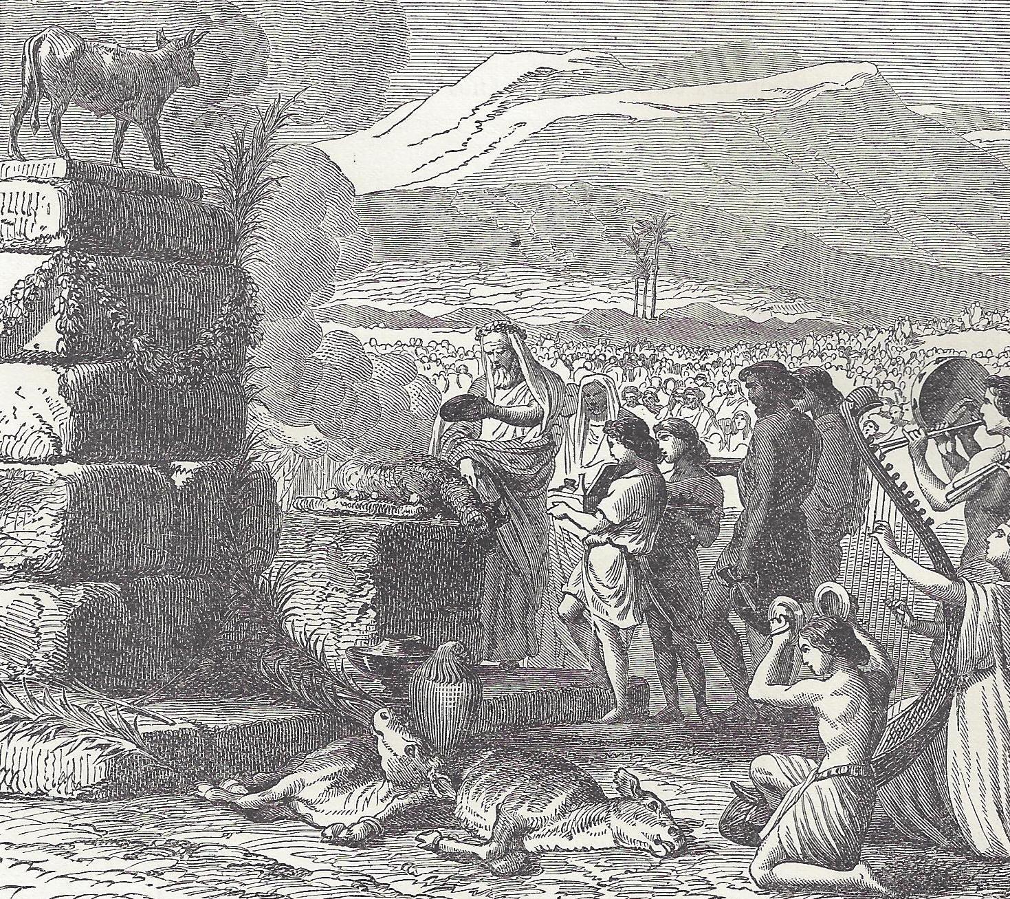 Israelites And The Golden Calf At Sinai