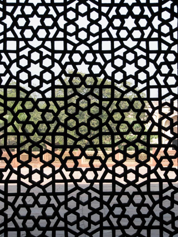 Elaborate Latticework Located On The Grounds Of Humayun S