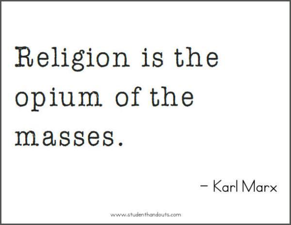 Karl Marx on Religion - Free Printable Quote | Student ...