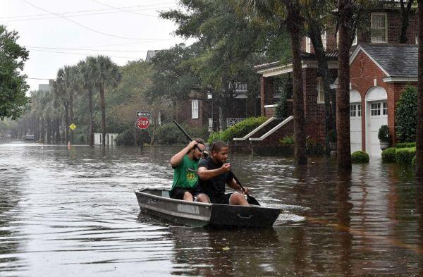 Historic rainfall pounds South Carolina
