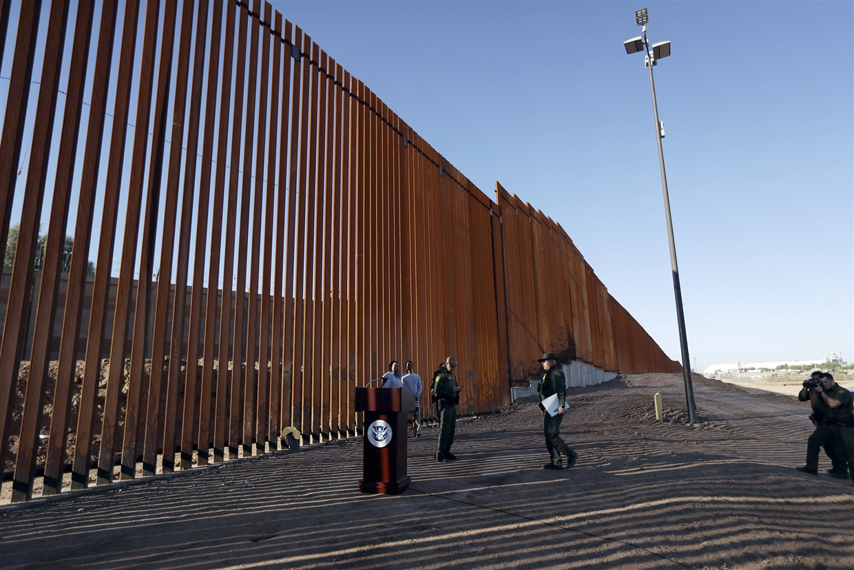 Dhs Unveils Trump S First Completed Border Wall Project