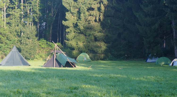 Tents at the Bavarian rainbow gathering