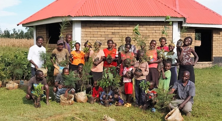 Otepic crew planting trees
