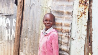 Beautiful girl in Southlands slum