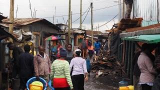 Street in Southlands Slum