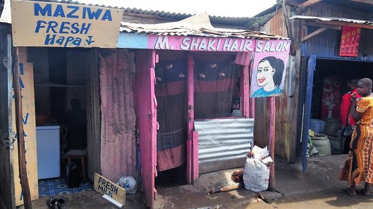 Hairsalon in Southlands slum.