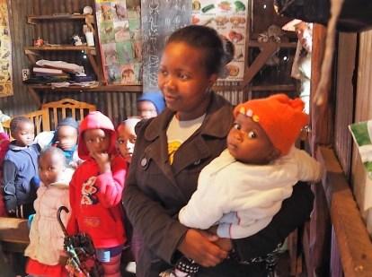 Pre-School kids in Southlands slum.
