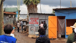 Hair salon in Southlands slum.