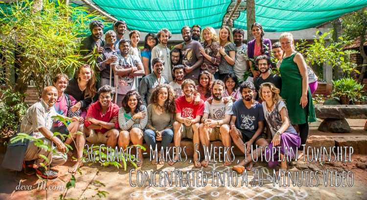 36 Change-Makers, 5 Weeks, 1 Utopian Township Concentrated into a 20-minutes Video