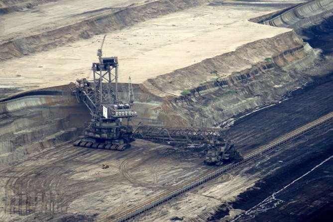 open cast lignite excavator