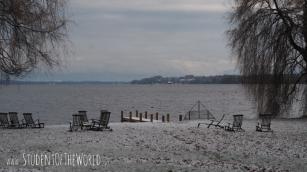 Lake Starnberg in winter robe