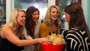 """Miss USM Pageant Contestants Kimberly Page, Arielle Dale and Patty Turner participate in """"Contestants Night Out"""" at Click Boutique in downtown Hattiesburg  Monday night. Kara Davidson/Printz"""
