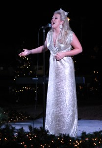 Miss USM Kimberly Page performs at Lighting the Way on Tuesday night.  Lighting the Way is an annual holiday event sponsored by the Student Government Association that features performances from various groups on campus.  Kara Davidson/Printz