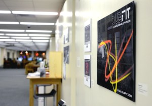 Senior graphic design major Rebekah Olson's senior project is on display along with other graduating seniors' work at the Graphic Design Senior Show located on the first floor of the Cook Library. Mary Alice Truitt / Printz