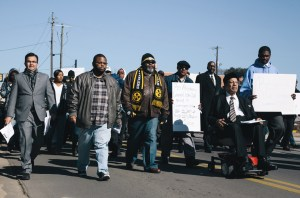 Supporters took to the streets Jan. 22 to re-enact the 50th anniversary of the Freedom March in Downtown Hattiesburg.  The march began at the intersection of Seventh and Mobile Street and concluded at the Forrest County Courthouse.  Kate Dearman/Printz