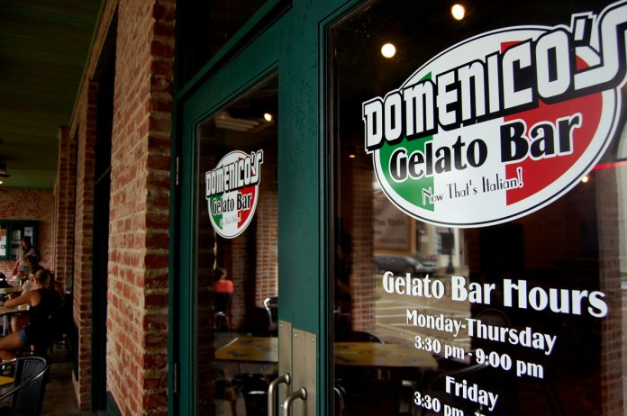 Domenicos Gelato Bar opened August 29th next door to Bianchis Pizzatia in downtwn Hattiesburg. They offer 18 falovors from chocolate and vanilla to nutella and peanut butter.   Photo by Mary Sergeant