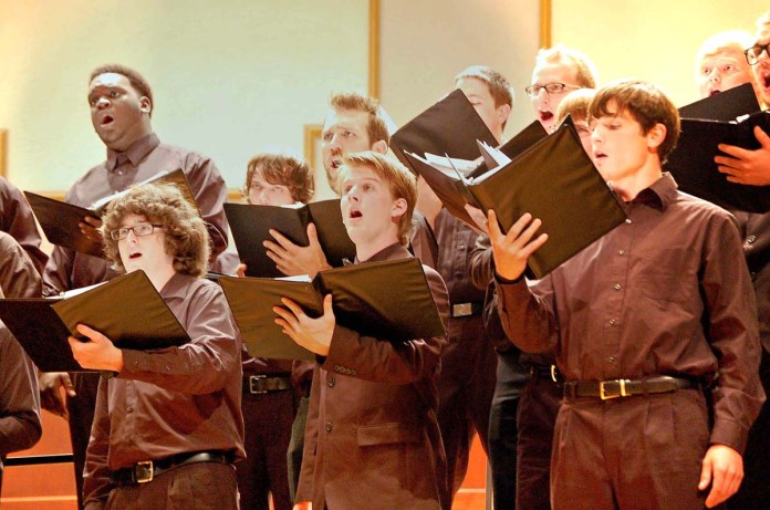 The 2012 SICC Choir sings in the Bennett Auditorium- Archives