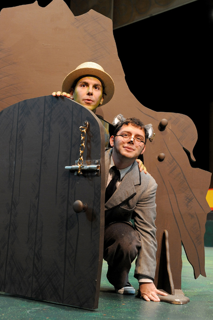 """Brandon Campbell performs as Mr. Toad, and Ryan Mahanah plays Mole in the upcoming play """"The Wind in the Willows.""""  The USM Department of Theatre opens the show Nov. 13 with other times to follow. - Susan"""