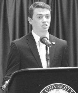 Jesse Robinson, a senior majoring in Mathematics served as the SGA vice-president the past year and will be running for the president this upcoming Student Government election.