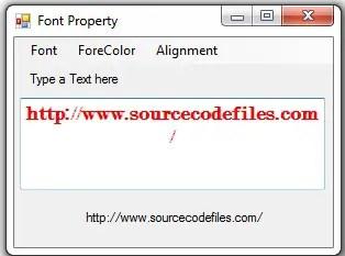 font property