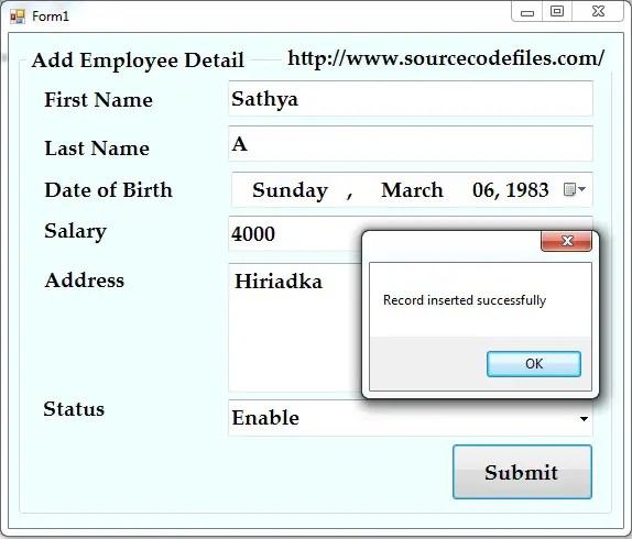 Add Employee Detail