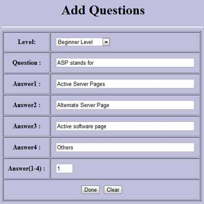 Online Examination System Project
