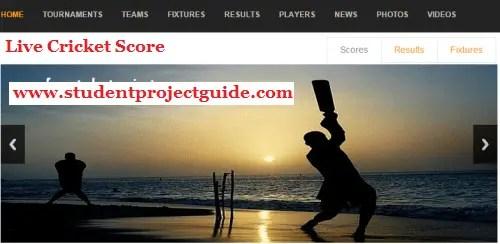 Live Cricket Score PHP Script