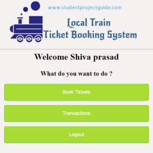 Local Train Ticket Booking System