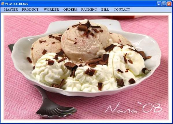 Ice-Cream Shop Management System