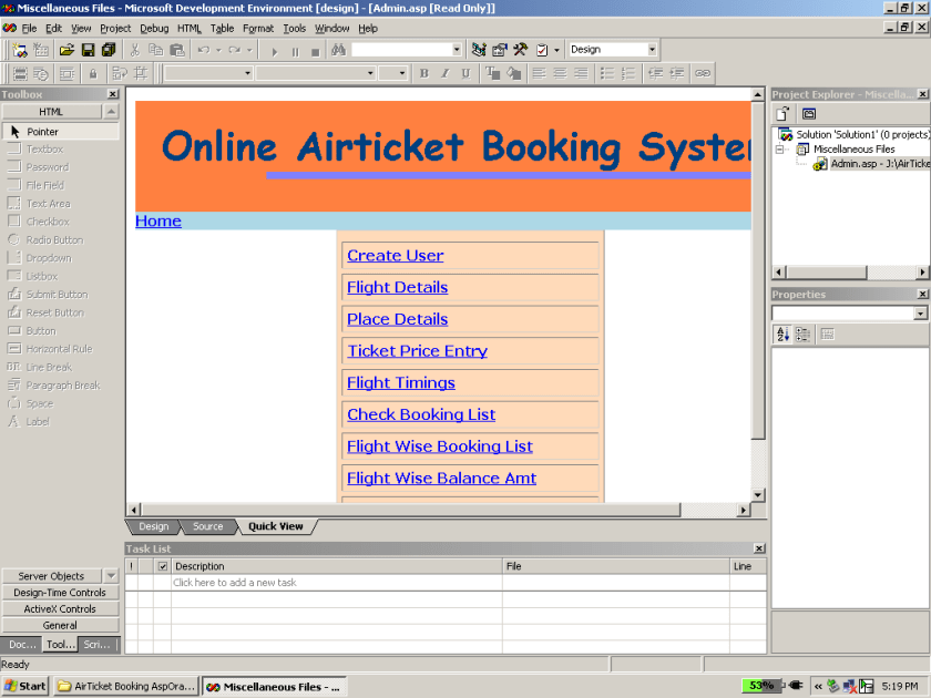 Online Flight Tickets Booking System