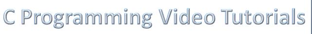 c programming video tutorial guide