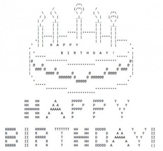 Birthday Wishes with Ascii Text -list2
