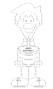 Birthday Wishes with Ascii Text
