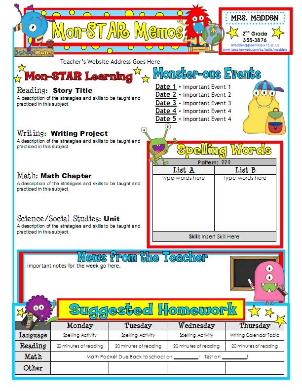 Newsletter Template 1 Classroom Newsletter Templates