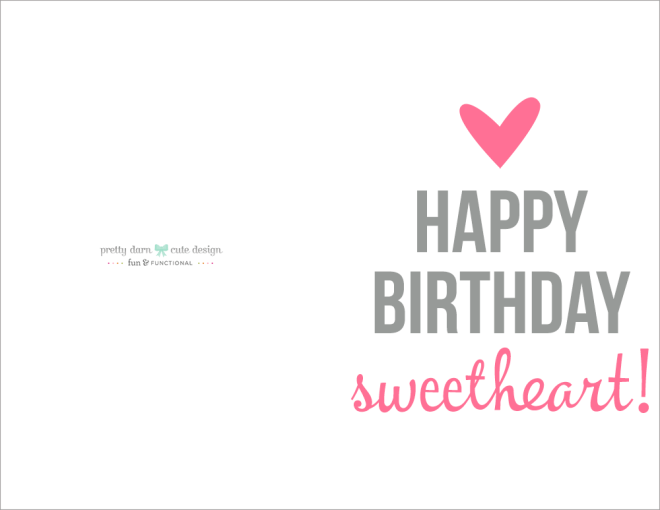 happy birthday card printable