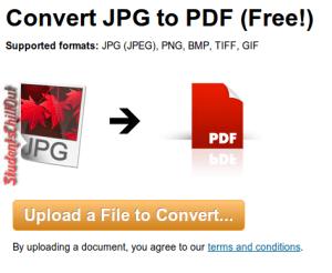 Convert jpg to pdf free online