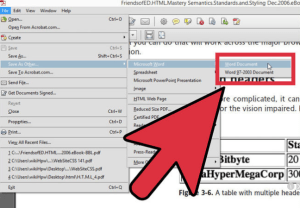 convert a pdf to a word document