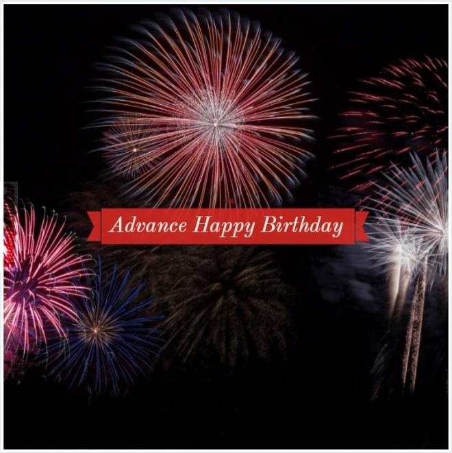 advance birthday wish