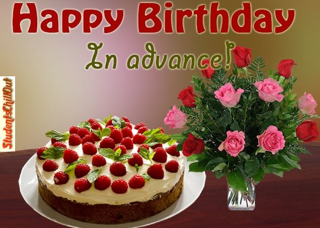 Advance Birthday Wishes Cards Card Design Template